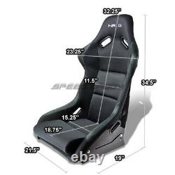 Nrg Fiberglass Bucket Racing Seats+stainless Steel Bracket For Wrx/sti Gd/gg Ej
