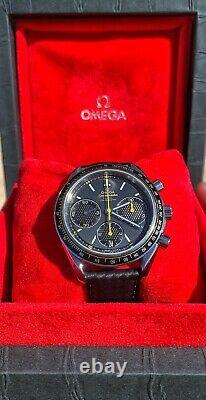 Omega Speedmaster Co-Axial Column Wheel Racing Chronograph Carbon Strap, Yellow