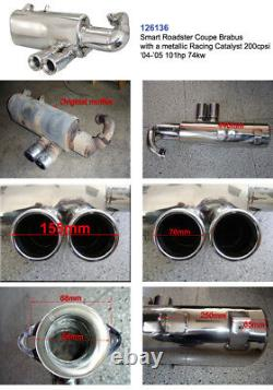 Performance Exhaust Muffler for Smart Roadster 452 Coupe Brabus with Racing CAT