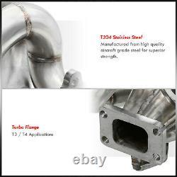 Ram Horn D15 D16 Engine SS T3/T4 Flange Turbo Manifold For 1988-1991 Honda CRX