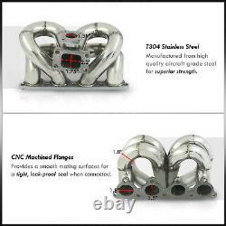 Ram Horn Equal Length T3 Turbo Manifold For Honda Civic CRX EK D-Series D15 D16