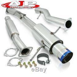 S/S Catback Exhaust 4.5 Burnt Muffler Tip For 2002-2007 Subaru Impreza WRX STI