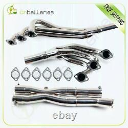 Stainless Racing Manifold Header+y-pipe For 1984-1991 Bmw E30 3-series 2.5/2.7l
