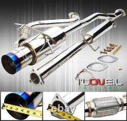 Stainless Steel Catback Exhaust 65mm Piping 4.5 Tip For 1994-1997 Honda Accord