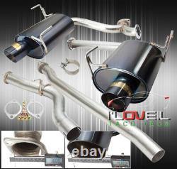 Stainless Steel Catback Exhaust 76mm 4 Muffler Tip For 08-14 Subaru WRX Sedan
