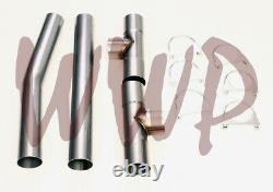 Stainless Steel Crossover Balance 3 Universal H-Pipe Tube Exhaust System Kit