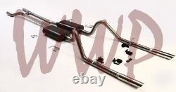 Stainless Steel Header Back Exhaust Muffler System 66-67 Ford Fairlane V8 Engine