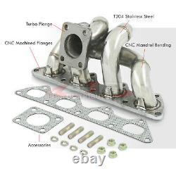 Stainless Steel TD05 Turbo Manifold Header For 1990-1999 Eclipse 1G 2G DSM 4G63