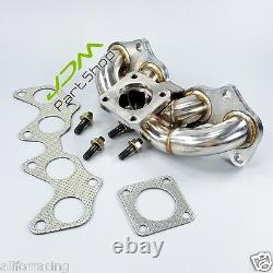 Stainless Steel Turbo Manifold Exhaust Header for Toyota Starlet EP82 EP91 4EFTE