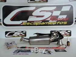 Triumph Daytona 675 R 2013-17 Slip-On Muffler Exhaust CS Racing No Headers