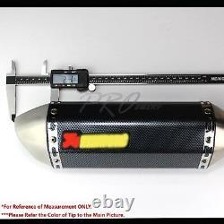 1.5-2 Entrée 1-1/4 Oblique Burnt Tip Carbon Look Racing Muffler Système D'échappement