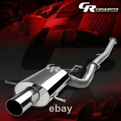 3.5 Muffler Tip Catback Racing Exhaust System Pour 02-07 Subaru Impreza Wrx/sti