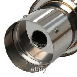 4.5 Muffler Tip Catback Racing Exhaust System For 92-00 Honda CIVIC 2/4dr Ej/em