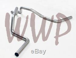 Acier Inoxydable 2.50dual Échappement Tailpipe 88-98 Chevy / Gmc C1500 K1500 V8 De Ramassage