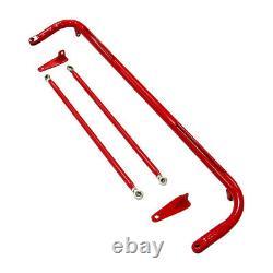 Acier Inoxydable 48 Sièges De Course Sécurité Ceinture De Siège Roll Barre De Harness Rod Red Bar