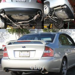 Ajustement 05-09 Legacy Gt Bl/bp Ej Dual 4muffler Tip Racing Midpipe+catback Exhaust