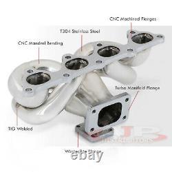 B16 B18 CIVIC Integra Vtec T3 / T4 T3 Bride Longueur Turbo Tête Equal Manifold