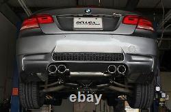 Beluga Racing 2008-2013 Bmw M3 E90 E92 True Dual Performance Exhaust Bevel Conseils