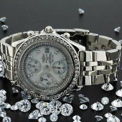 Breitling Crosswind Racing A13055 Cadran Diamant Blanc Avec 3.00 Diamants Ct