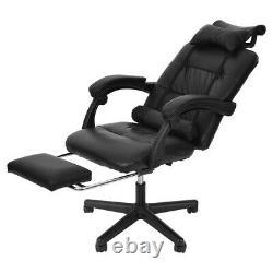 Chaise De Jeu Chaise Inclinable Chaise De Course Haut Dos Avec Footrest Leather Office Accueil