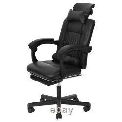 Chaise De Jeu Inclinable Chaise De Course Haut Dos Avec Footrest Leather Office Home