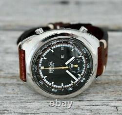 Chronographe Seiko Vintage Racer 6139-7002 1973 Mint Racing Strap Japan Automatic