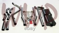 Double Tête 2,50 Retour D'échappement Système / W 55-57 Cars Chevrolet Silencieux Moteur V8