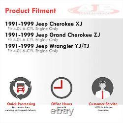 Échappement Des En-têtes De Tubes Longs Inoxydables Pour 1991-1999 Jeep Cherokee Wrangler Tj 4.0l