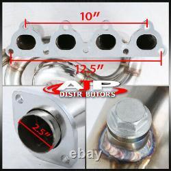 En Acier Inoxydable 4-1 Exhaust Header Manifold Pour 1988-2000 Honda CIVIC D15 D16