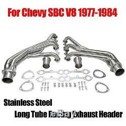 En Acier Inoxydable Long Tube Collecteur D'échappement Racing En-tête Pour Chevy Sbc V8 77-84