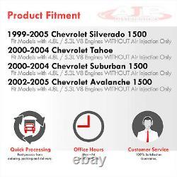 En-têtes Shorty D'échappement En Acier Inoxydable Pour 2000-2004 Chevy Suburban Tahoe Yukon