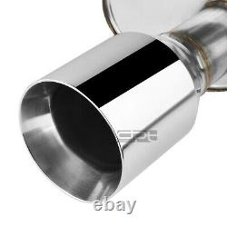 Fit 04-08 Maxima V6 Dual 4 Rolled Muffler Tip Stainless Racing Catback Exhaust