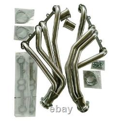 Fit 67-77 Action Line Sbc V8 Stainless Racing Manifold Long Tube Header/exhaust