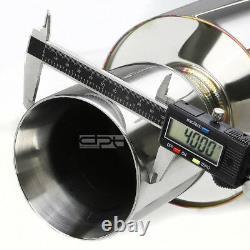 Fit 92-00 CIVIC 2dr/4dr Em/ej/eg 4 Rolled Muffler Tip Racing Catback Exhaust