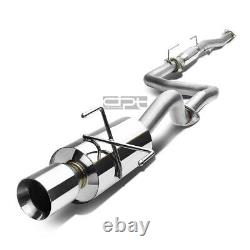 Fit 96-00 CIVIC 3dr Ej6 4 Rolled Muffler Tip Stainless Racing Catback Exhaust