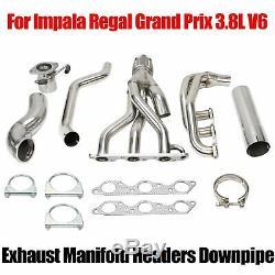 Grand Prix / Gtp / Royal / Impala 3.8l V6 Racing Inoxydable Collecteur En-tête / Échappement