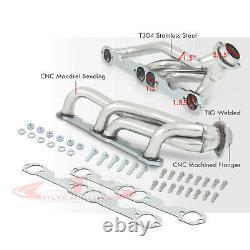 Kit D'en-tête Tubulaire Pour L'échappement Inoxydable Pour La Période 1988-1997 Chevy Gmt400 Sbc 5.0l 5.7l V8