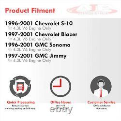 Kit D'en-têtes Shorty D'échappement Inoxydable Pour 1996-2001 Chevy S10 Blazer Jimmy 4.3 V6