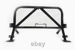 Obx Black Racing Sport Roll Bar Convient 06-15 Mazda Miata Double Diagonal