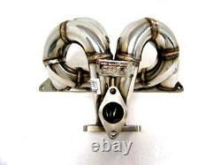Obx Racing Bottom Mount Turbo Manifold S'adapte 1992-2001 Prélude H22 T3/t4 Flange