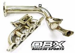 Obx Racing Turbo Manifold Pour Thru 2004 Ford 2000 Mise Au Point 2.0l Zx3 Zetec Avec Dp