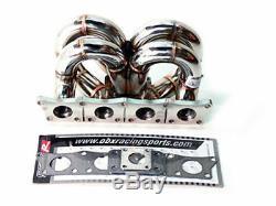 Obx Racing Turbo Tête Manifold Pour 00-05 Vw Golf Mk4 / 97-05 Audi A4 1.8t À Traction Avant