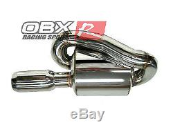 Obx Racing Universal Sports 2.5 Acier Inoxydable Mugen Style Double Boucle Silencieux