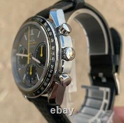 Omega Speedmaster Co-axial Column Wheel Racing Chronograph Carbon Strap, Jaune