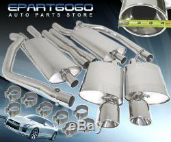 Pour 05-10 Chrysler 300c Hemi 5.7l S / S Piping Tip Double Catback Système D'échappement