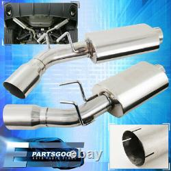 Pour 10-15 Chevrolet Camaro Ss V8 3 Catback Dual Exhaust System Stainless Steel