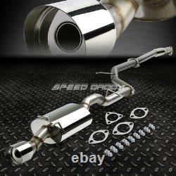 Pour 12-15 Honda CIVIC Coupé Fg3/fg4 4 Oval Muffler Tip Racing Catback Exhaust