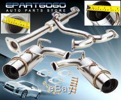 Pour 13-16 Subaru Brz Scion Frs Toyota 86 Dual 4 Tip Catback Système D'échappement Jdm