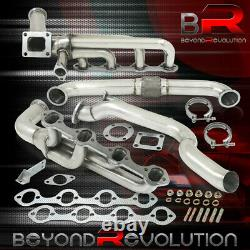 Pour 1979-1995 Mustang 5.0l V8 Racing T4 Turbo Manifold Exhaust + Cross Down Pipe