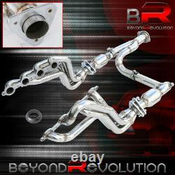 Pour 1999-2005 Chevrolet / Gmc Pickups Suvs Racing S/s Manifold Header + Y-pipe